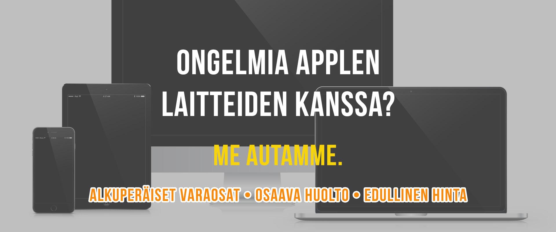 Ongelmia Applen laitteiden kanssa?